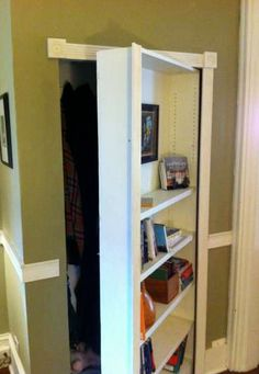 How to Make a Secret Bookcase Door