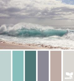 Sea colours...working on something similar to this in our home now. Reminds me of our Wedding Day~ Peaceful and invigorating all at once!