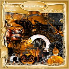 Scrapkit Dark and Orange [Denise Creationz] - $2.20 : , Exclusive Scrapping Divas