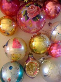 vintage christmas glass ornaments