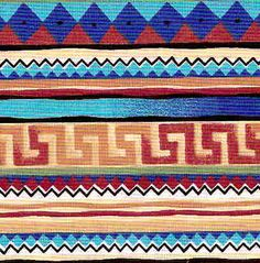 Aztec Designs And Patterns Aztec Tribal Patterns, Aztec Designs, Tribal Prints, Textures Patterns, Color Patterns, Style Patterns, Placemat Design, Indian Blankets, Mexican Designs