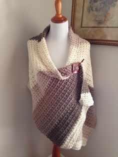 Knotted Threads and Yarn: The New Caron Cakes Yarn-V-Stitch Shawl by V Noel, with pattern link.