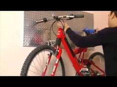 Do-it-yourself bike storage. #bicycle #bikehack #pegboard