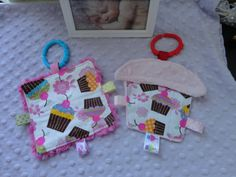Baby Girl Toys Infant Toys Taggie Toys cute by Sassydoodlebaby, $8.99