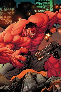 Agent Venom vs Red Hulk) By: Julian Totino Tedesco. Red Hulk Marvel, Hulk Comic, Marvel Heroes, Comic Book Characters, Marvel Characters, Comic Character, Comic Books Art, Comic Art, Giant Monster Movies
