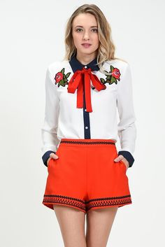 EMBROIDERY RIBBON TOP