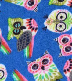 Anti-Pill Fleece Fabric- Fancy Owl, , hi-res Online Craft Store, Craft Stores, Car Seat Poncho, Fabric Shop, Joanns Fabric And Crafts, Fleece Fabric, Craft Supplies, Birthdays, Owl