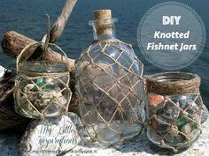 My Little Inspirations: {DIY Knotted Fishnet Jars} #estatecreativa #TopBloggerKreattive