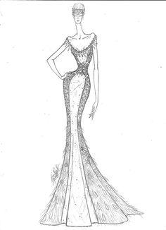 #dress #fashion #couture #illustration #creative #colors #handmade
