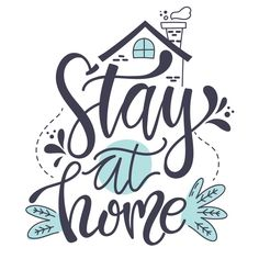 Stay at home lettering concept Free Vect. Design Plat, Line Design, Lettering Tutorial, Brush Lettering, Lettering Design, Doodle Quotes, Drawing Quotes, Graphic Design Templates, Cartoon Design