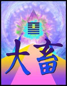 Painting inspired by the Chinese character for Accumluatting Great Power