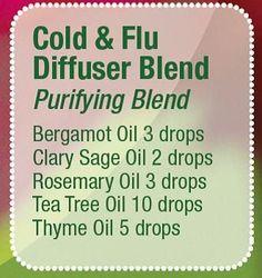 Cold & Flu Diffuser Blend.                                                                                                                                                                                 More