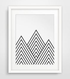 Mountains Geometric Mountain Printable Art by MelindaWoodDesigns These in a row in the main room?