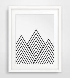 Mountains Geometric Mountain Printable Art by MelindaWoodDesigns #geometricart