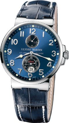 The Marine Chronometer from Ulysse Nardin is an excellent addition to any collection. The maximized dial and clean Arabic numerals make the dial extremely legible. The double ant-reflective coating on