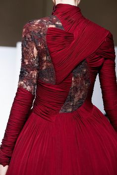 Yiqing Yin Fall 2013 Couture - like this, except in black with turquoise traces in the lace