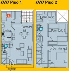 PLANOS DE CASA EN 60M2 6 ms frente 10 largo planosdecasas.blogspot.com
