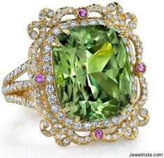 ERICA COURTNEY   Gemstone and Diamond Ring   {đιåмσиđѕ&ρєåɾℓѕ}.