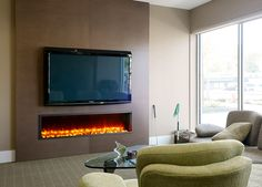 Modern Living Room With Fireplace And Tv modern linear fireplaces contemporary living room design accent