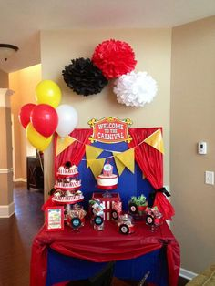 Carnival/Circus Birthday Party Ideas | Photo 24 of 34 | Catch My Party