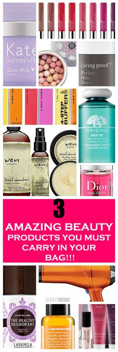 3 most Amazing beauty products you must carry in your bag that's going to make your life easier!!