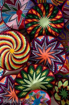 Africa | Woven baskets at a market in Axum.  Ethiopia | ©Mike Copeland