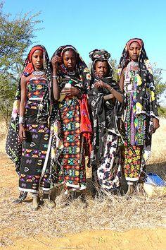 Women from West Nuba Mountains, Sudan