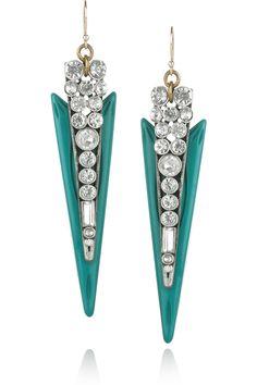 Lulu Frost | Crystal and resin spike earrings | NET-A-PORTER.COM