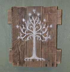 White Tree of Gondor Wall Hanging Lord of the by SnarlingBunny.