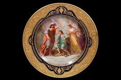 "57: Vienna porcelain 9.5"" cabinet plate depicting Ulyss : Lot 57"