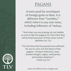 TLV Glossary Word of the Day: Pagan #tlvbible