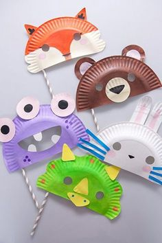 Paper Plate Masks Fun Crafts Kids Ideas Of Paper Plate Crafts for Of July Paper Plate Masks, Paper Plate Crafts, Paper Plates, Paper Plate Animals, Fun Crafts For Kids, Creative Crafts, Diy For Kids, Crafts To Do, Halloween Masks Kids