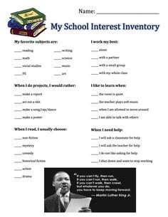 Student Interest Inventory                                                                                           More