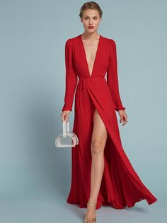 Thea in poinsettia & Poppy gown & lots of other gowns you'll actually want to wear at this site