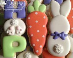 Easter Bunny Cookies di DolceCustomCookies su Etsy
