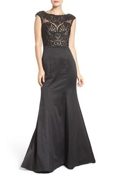La Femme Embellished Mermaid Gown available at #Nordstrom