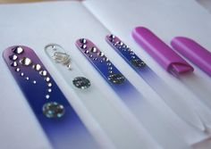 @montblue Glass Files Review- Glass Foot File,  Zodiac Nail File, Tweezers, Glass Cuticle Stick