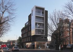 Cowie's six-storey apartment scheme in east London sits at the corner of Hackney Road and Minerva Street. Completion is set for 2010.