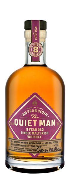 The Quiet Man 8 Year Old Oloroso Cask. Shop online for a huge range of Irish whiskeys. Best Irish Whiskey, Single Malt Irish Whiskey, Bourbon Barrel, Bourbon Whiskey, The Quiet Man, 8 Year Olds, Whiskey Bottle, Wines, Liquid Gold