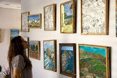 Exposición de pinturas y dibujos en el Teléfono de la Esperanza, Almería.
