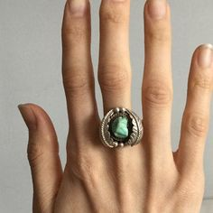 🌿 V I N T A G E • Silver Turquoise Navajo Ring Gorgeous handmade Navajo Old Pawn ring with a light robin's egg blue turquoise. Size 8. Anthro for exposure. Stone is slightly loose but is secure. Anthropologie Jewelry Rings