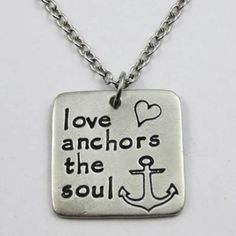 Love Anchors The Soul Square Necklace