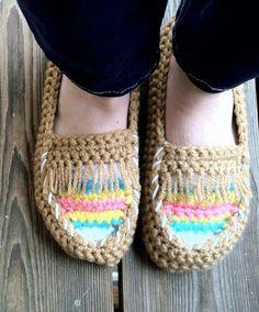 7 free crochet slipper patterns