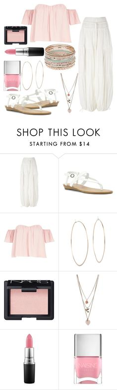 """Cute is Beautiful"" by lawangina ❤ liked on Polyvore featuring Chloé, Blowfish, River Island, Michael Kors, NARS Cosmetics, Miss Selfridge, MAC Cosmetics and Nails Inc."