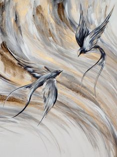 Paintings of birds by Liffey Joy - Quest Mixed Media Painting, Mixed Media Canvas, South African Artists, Online Art Gallery, Joy, Birds, Paintings, Artwork, Art Work