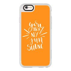 You Are My Sunshine - Orange - iPhone 6s Case,iPhone 6 Case,iPhone 6s... (745 MXN) ❤ liked on Polyvore featuring accessories, tech accessories, iphone case, iphone cover case, apple iphone cases, iphone cases and iphone hard case