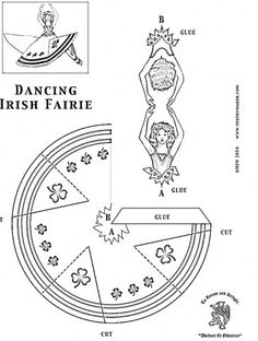 Dancing Irish Fairy Craft - same as the other, but this one they can color.