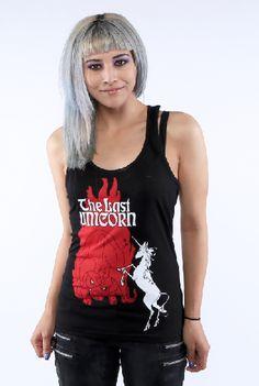 #TheLastUnicorn #goth #unicorn #TheRedBull  #tank by#NewBreedGirl