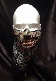 Zombie Apocalypse Costume and MOTORCYCLE mask Handmade Perfect HALLOWEEN MASK too!