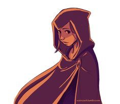 She hid him under her cloak at first.